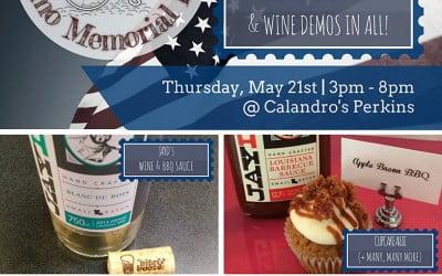 #DemoMemorialDay Tasting Event: Thurs., 5/21   3p-8p   Perkins