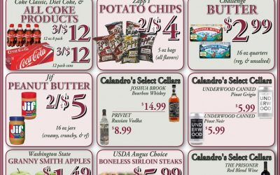 Some awesome weekly deals this week @ Calandro's (for 1/28/2016)…