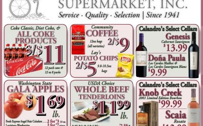 Check out the Weekly Deals @ Calandro's for 5/26/2016