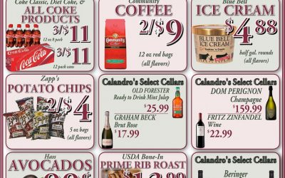 Some awesome weekly deals this week @ Calandro's (for 5/05/2016)