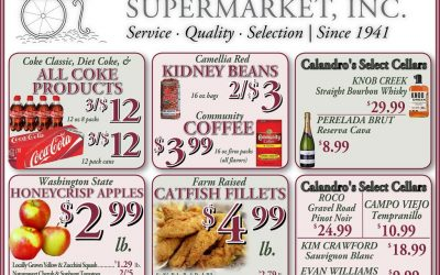 Check out the Weekly Deals @ Calandro's for 9/22/2016