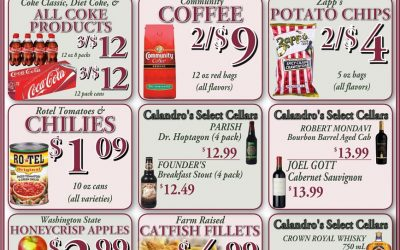 Check out the Weekly Deals @ Calandro's for 10/13/2016