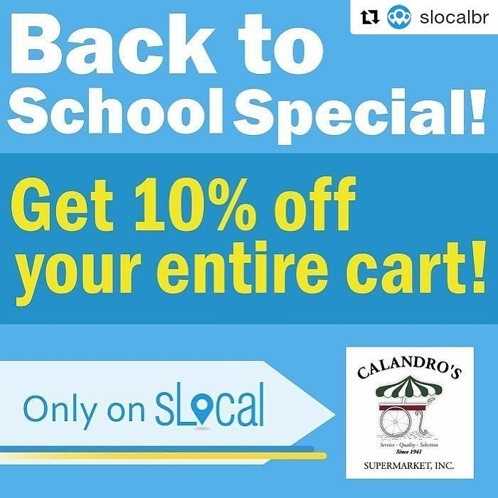 Yep…you can support your local school through @slocalbr AND get 10% off your entire basket…