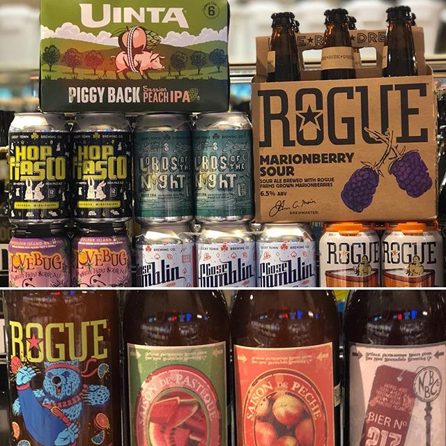 It's #newbrewthursday at our Perkins Rd location! Come check it out! @uintabrewing @rogueales @nbbrew @luckytownbrew…
