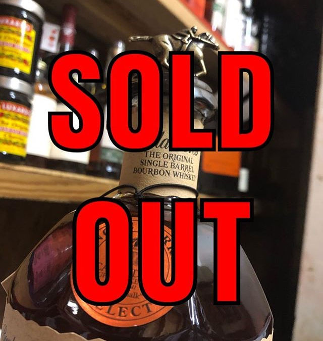 And it's gone… 15 minutes, 204 bottles. Thanks everybody that came out! #barrel #strongwater #soldout…