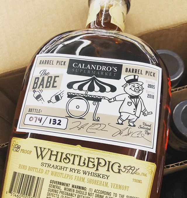 Our second @whistlepigwhiskey barrel is now available at our #midcitybr location! #liquor #barrelpick #thebabe #shoplocal…