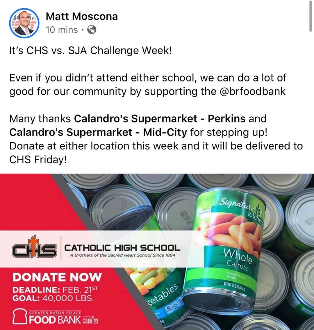 Come by BOTH locations starting today until Friday to support @chs_br with their #2020challengeday canned…