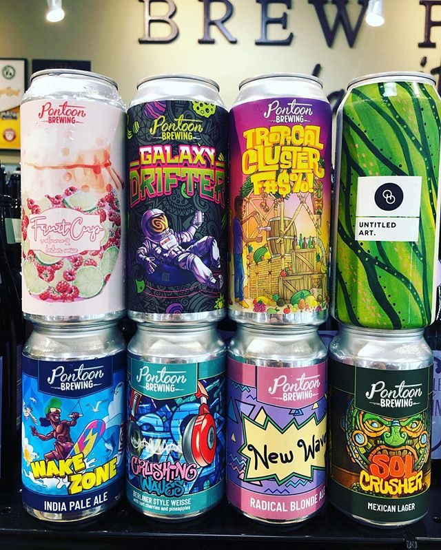 New brews now in stock at our Perkins Rd location! @pontoonbrewing @untitledartbev @otherhalfnyc #newbrews #haze…