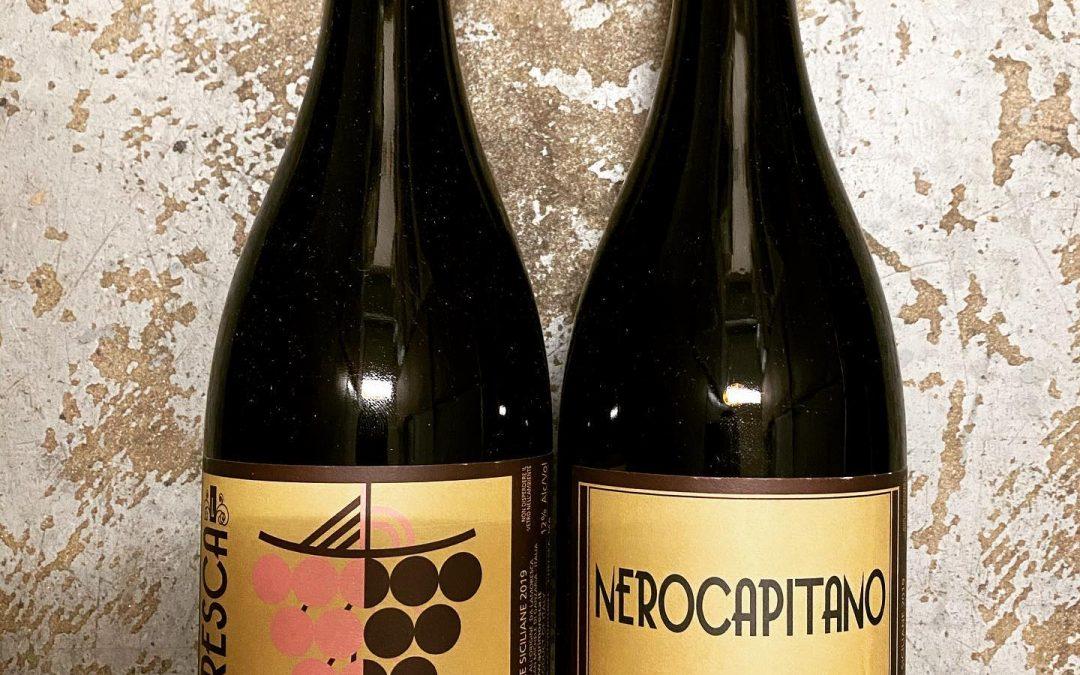 Just in from Sicily! Two new arrivals from @lamorescavini; Nerocapitano 100% Frappato and a Frappato/Zibibbo