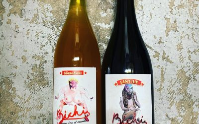 New @bichiwines available at Perkins! Skin-contact Chenin Blanc and Listan Negro (aka Mission in Cali,