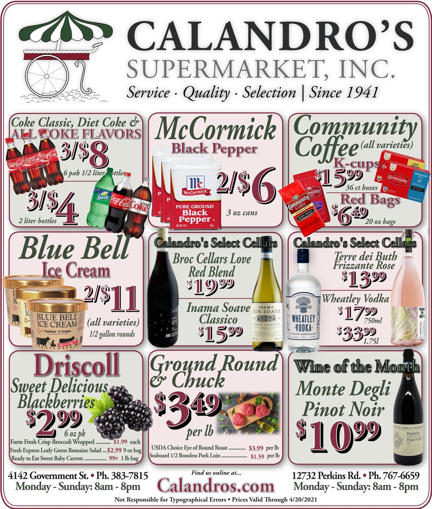 Calandro's Fabulous Finds & Deals for This Week! (4/15/2021 – 4/20/2021) http://dlvr.it/Rxj0z0…