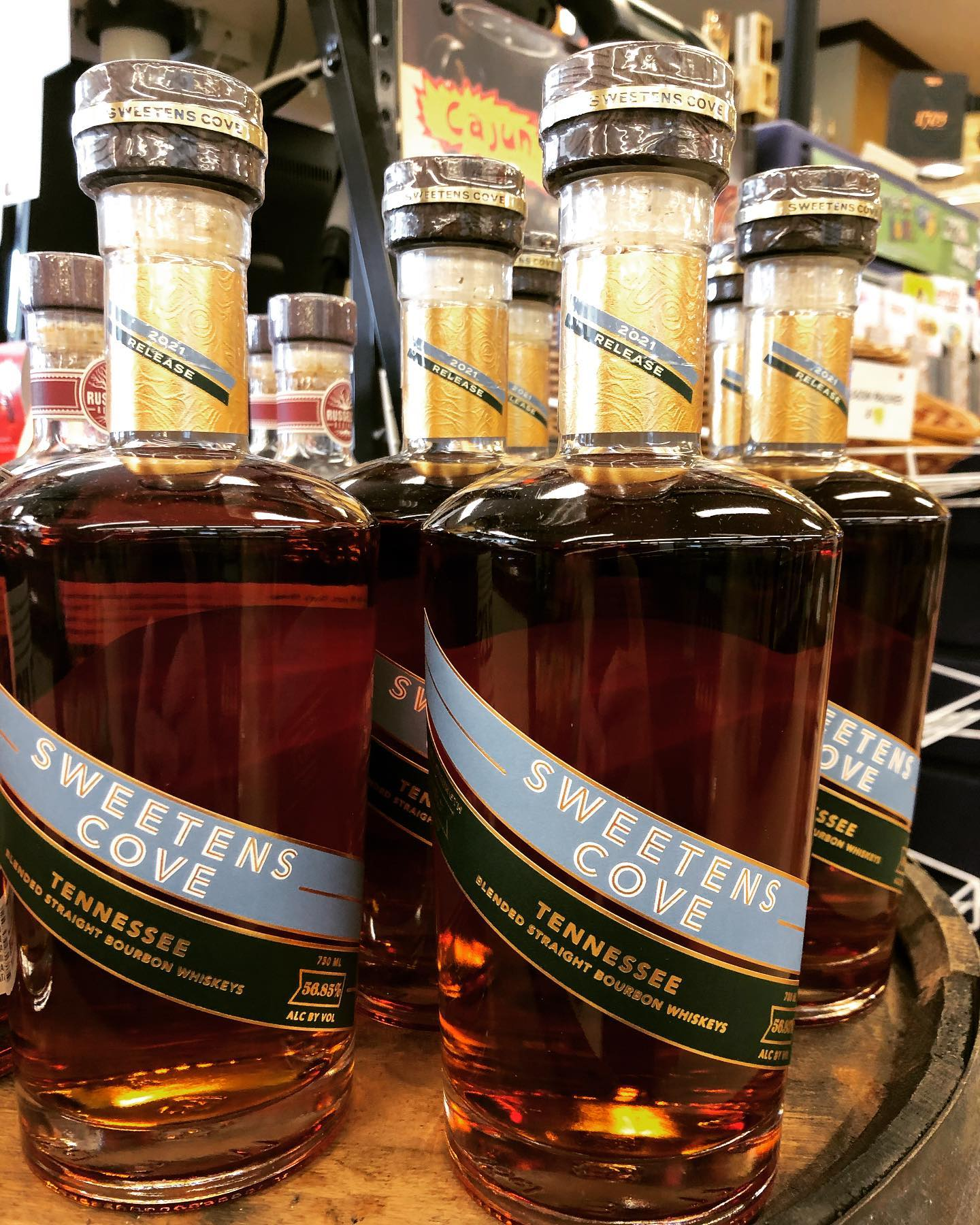@sweetenscovespirits Tennessee Bourbon is now in stock at our Perkins Rd location! This 113 proofer