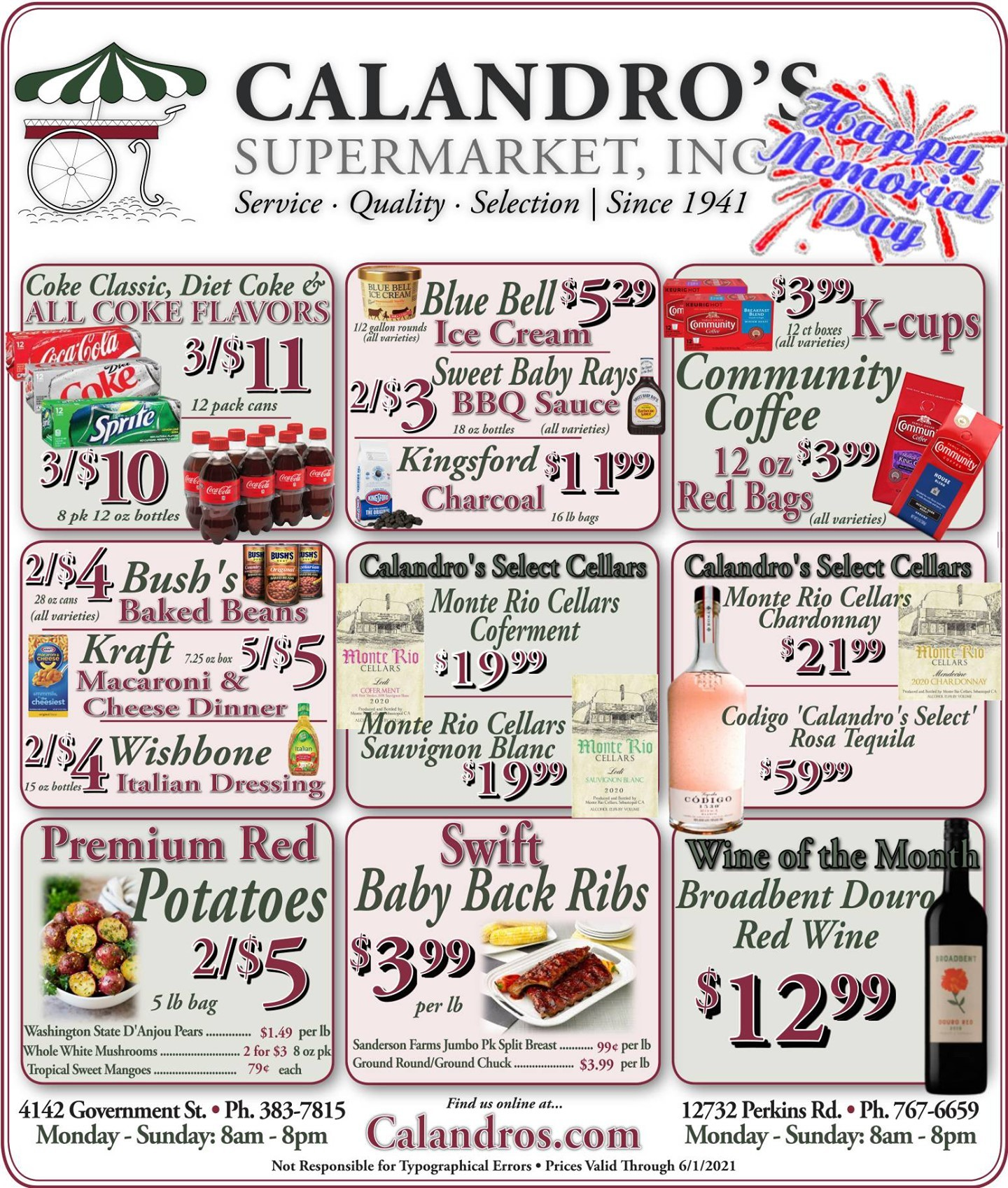 Calandro's Remarkable Deals and Sales for This Week! (5/27/2021 – 6/1/2021) http://dlvr.it/S0Vj0M…