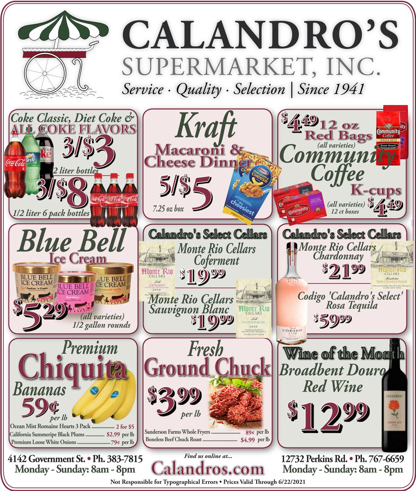 Calandro's Sensational Deals and Sales for This Week! (6/17/2021 – 6/22/2021) http://dlvr.it/S1tg4h…