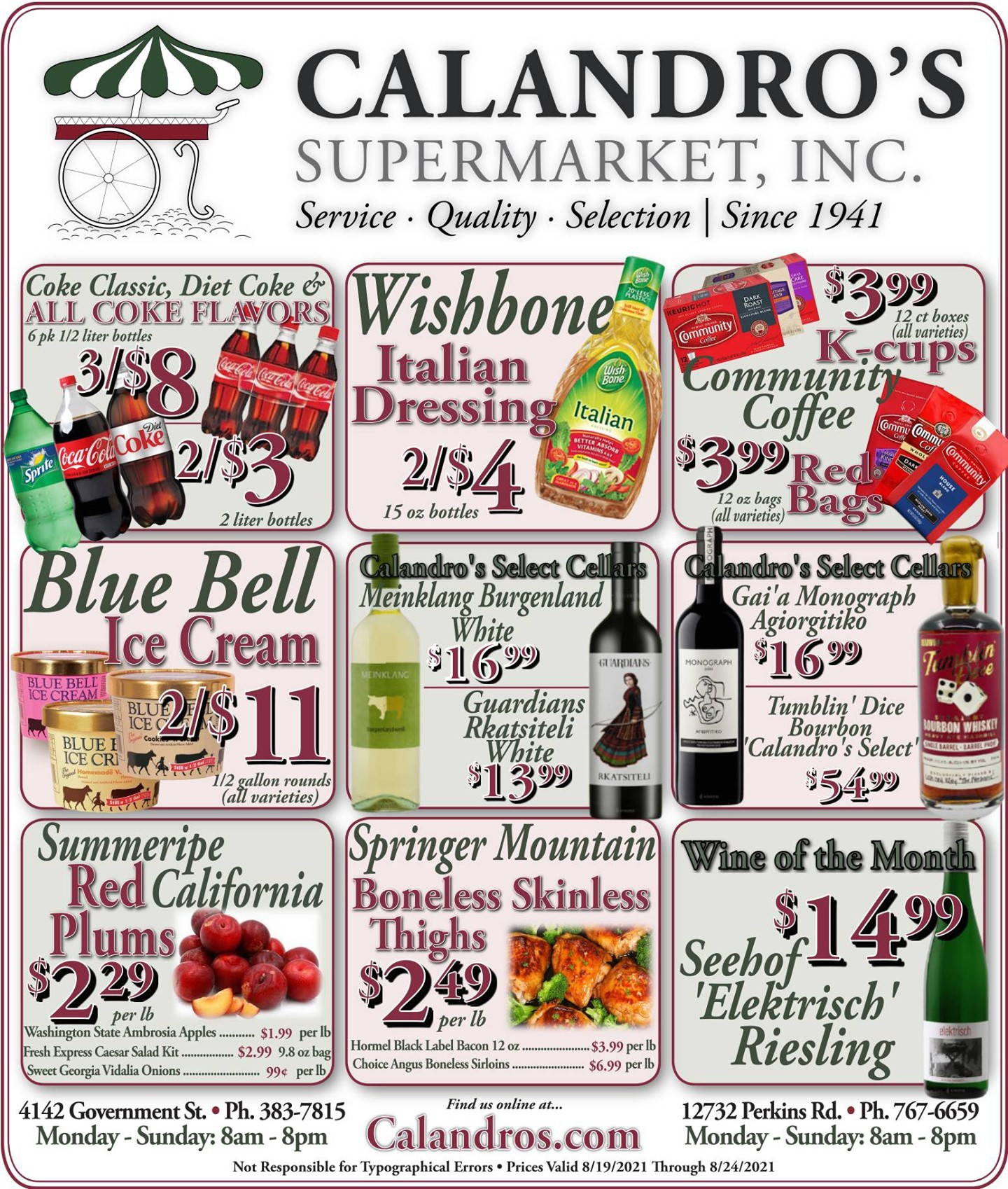 Calandro's Wonderful Deals and Finds for This Week! (8/19/2021 – 8/24/2021) http://dlvr.it/S5wF7W…