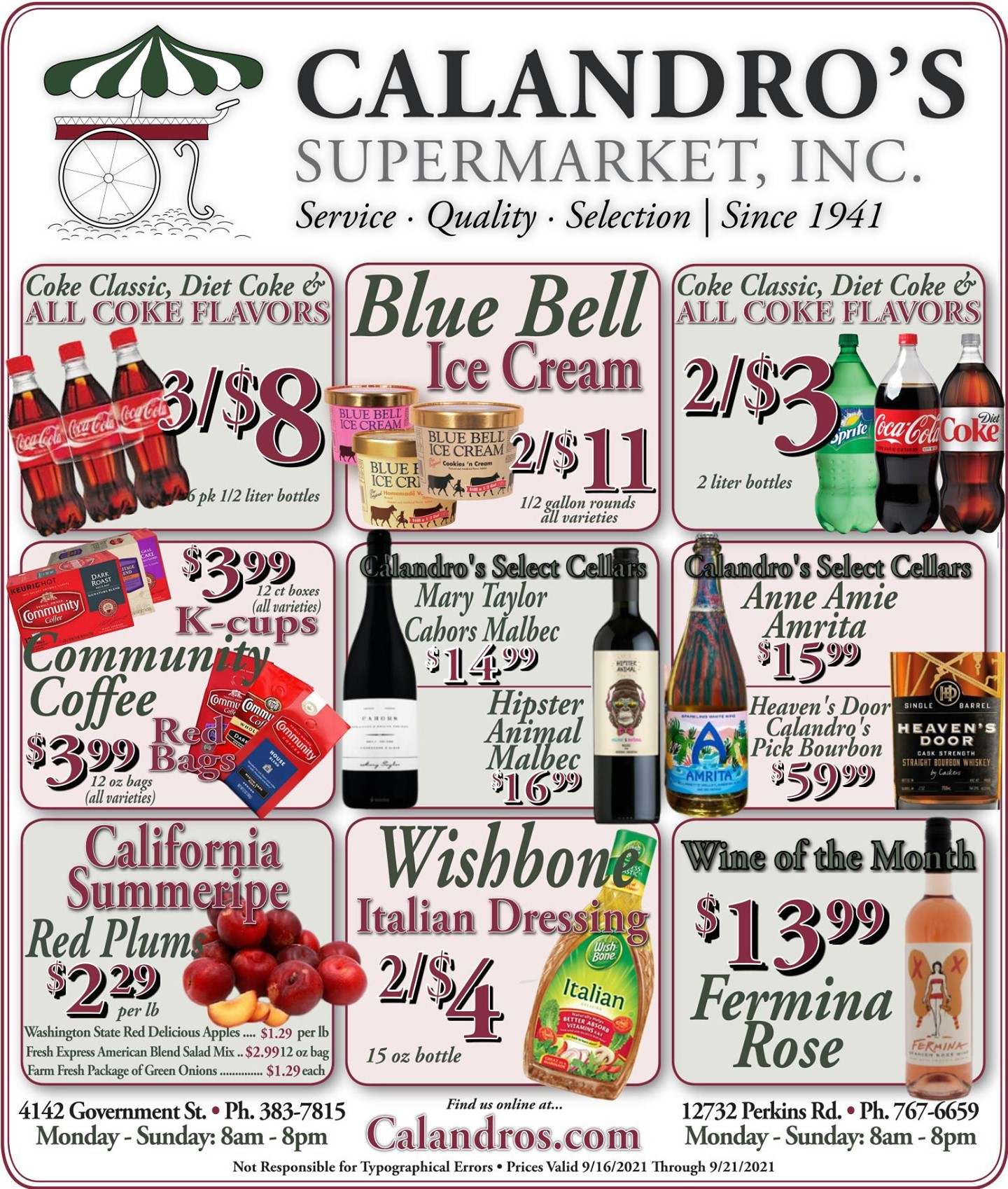 Calandro's Sensational Deals and Sales for This Week! (9/16/2021 – 9/21/2021) http://dlvr.it/S7fwhl…