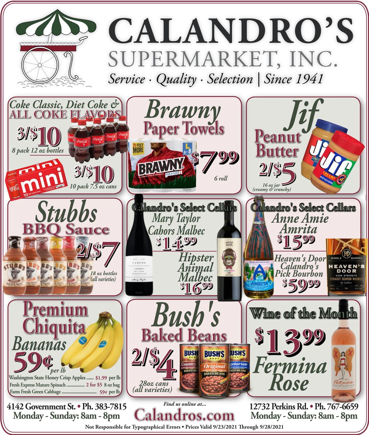 Calandro's Wonderful Sales and Deals for This Week! (9/23/2021 – 9/28/2021) http://dlvr.it/S860K6…