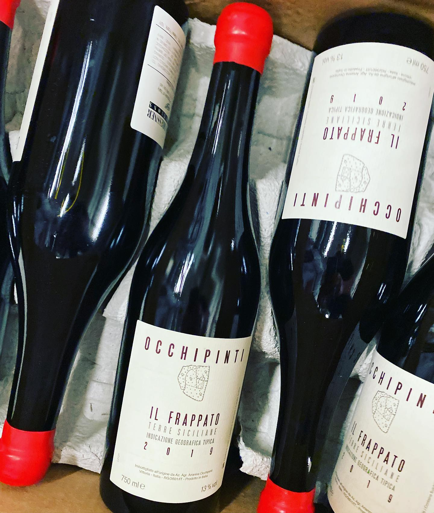 New vintage from @ariannaocchipinti available at Perkins! @louisdressnerselections . . . #wine #naturalwine #sicily #frappato